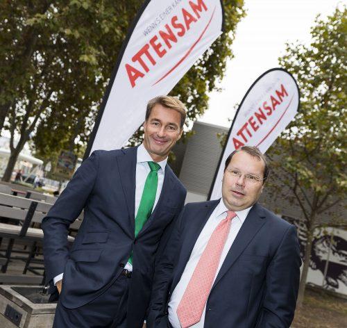 Oliver Attensam, Geschäftsführer Attensam Unternehmensgruppe, und Peter Schrattenholzer Geschäftsführer Attensam Wien (v.l.n.r.)